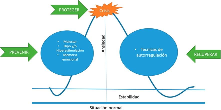 Gráfico La regulación emocional en TEA